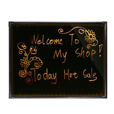 "Led Message Writing Board 32""x24"" Illuminated Erasable Neon Restaurant Menu Sign"