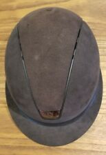 Pre Owned Samshield Premium Helmet Black Alcantara Size 6 3/4 Small