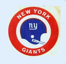 "Early 1970's New York Giants NFL football 3 "" nylon decal"