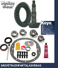 "Motive Black GMC 8.5 8.6"" 3.42 Ring Pinion Gear Set & Master Install Kit 70-99"