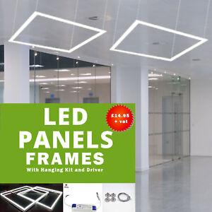40W Led Panel Frame Border light Cool White 600 x 600mm With Hanging Kit