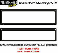 Number Plate Cover NSW Premium Screw On - No lines