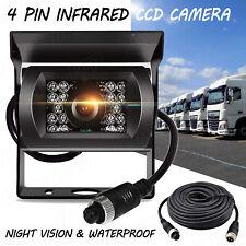 12V-24V 4Pin Bus Truck Heavy Duty Waterpoof IR Night Reversing Camera+10M Cable