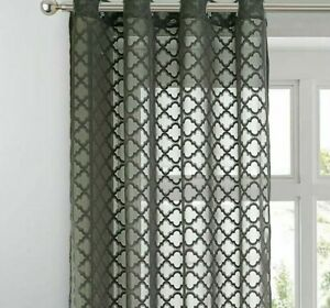 Geometric Jacquard Curtains Panels Home Decoration Window Treatments Curtain New
