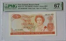 1989 -92 NEW ZEALAND 5 Dollars PMG67 EPQ SUPERB GEM UNC [P-171c] 'Brash'