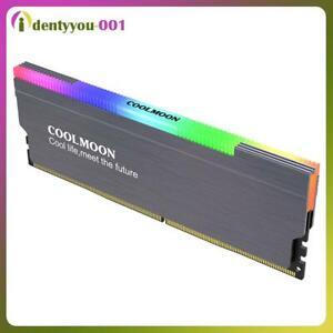 COOLMOON CR-D134S ARGB RAM Heatsink Heat Spreader Cooler for Desktop (Grey)