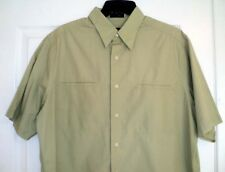 DKNY Men Short Sleeve Green Casual Shirt Cotton Size M Button Down Front Pocket
