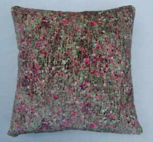 """Liberty Arts Fabric Cushion Cover 'FLORAL MAWSTON MEADOW POLLEN' - 18"""" -  VELVET"""