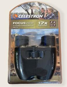🔥 Celestron Focus View 8-17x25 Multi-Purpose Binocular NIB MODEL 71179 🔥