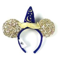 Disney Parks Adult Gold Purple Sequin Sorcerer Hat Mickey Mouse Ears Headband