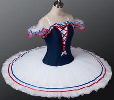 Professional Blue White Red Flames of Paris Ballet Tutu Costume Custom MTO YAGP