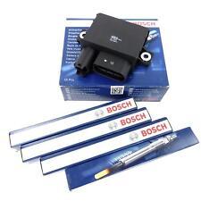 4x Orig BOSCH Glühkerzen Steuergerät Glühzeit für BMW E90 E81 N47D20 143PS 177PS