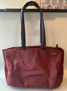 BRIGGS & RILEY Travel Tote Carry-on Shoulder Bag in Maroon Brownish Red S145-2
