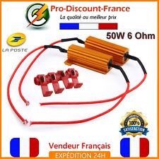 2 x Résistance Anti Erreur Module 50W 6ohm LED Clignotants Phare Feux Voiture