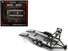 """TANDEM CAR TRAILER W/TIRE RACK """"GM PERFORMANCE PARTS"""" 1/43 DIECAST BY GMP 14311"""