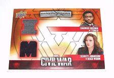2016 CAPTAIN AMERICA - Civil War BLACK WIDOW Black Panther Dual Worn Item BBI-TB