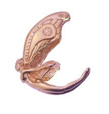 18K Rose Gold Pltd charm celtic 3d flying Garden fairy Angel pendant Jewelry New