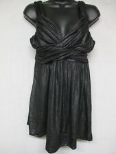 Express Women's Top - Sleeveless Polyester Blend Black Top with Straps Size S U7