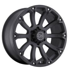 "20"" BLACK RHINO SIDEWINDER MATTE BLACK WHEELS RIMS 20x9.0 5x114.3 -12et"