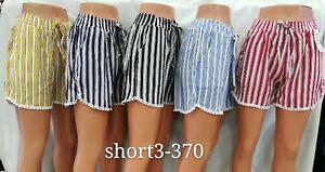 Ladies Pyjama Sleep Shorts Lounge Nightwear Cotton Elasticated Waist Size