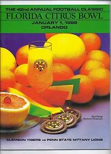 1988 Citrus Bowl Game Program Clemson Penn State