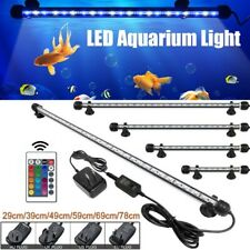 7-27 inch Aquarium Fish Tank Led Submersible Light Rgb Bar Lamp Lighting Diy