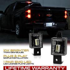 For 2014-2018 Chevy Silverado GMC Sierra Bright White LED License Plate Lights
