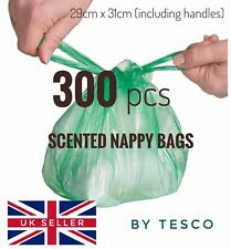 300 Disposable Nappy Bags Fragranced Baby Diaper Hygienic Sacks Tie Handle Bags