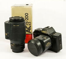 Canon T80 avec Canon AC 35-70 3.5-4.5 et Canon AC 75-200 mm 4.5 autofocus zoom