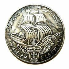 Large Silvered Medal Danzig 1 Ix 1939 / Germany / Exonumia Medal - Token