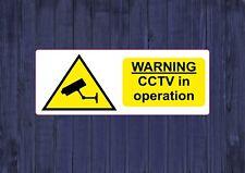 Warning CCTV In Operation Print Wall Art Funny Laptop Decor Vinyl Sticker