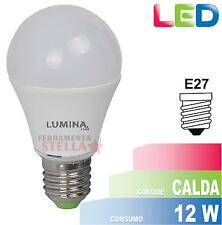 LED LAMPADINA LAMPADA CALDA A RISPARMIO ENERGETICO GOCCIA 12W E27 BASSO CONSUMO
