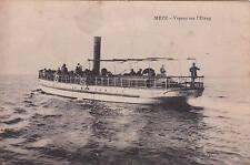 MEZE bâteau vapeur sur l'étang écrite 1895