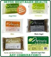 6 Packs Miracle Noodle Angel Hair, Fettuccini and/or Rice, U Pick Combination!