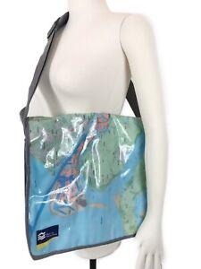 Port Of Rotterdam Map Vinyl Messenger Bag Purse Flap Front Pockets Adjustable