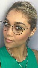 New PRADA  VPR 6T4 1BK-1O1 Round 48mm Gold Eyeglasses Frame