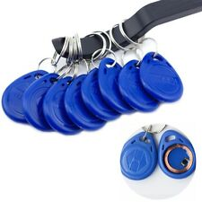 100pcs 125kHz RFID ID Card Token Keyfobs Tag Codeschloss Schlüsselanhänger blau