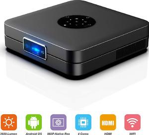 "Smart Home Projector 300"" WiFi BT 4.2 HDMI Del projector Support 1080P DLP"
