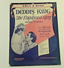 ONLY A ROSE in The Vagabond King Vintage Sheet Music 1930 by Post, Hook & Friml