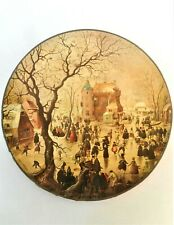 Springbok Vintage Winter Scene Art by Hendrick Avercamp Circular Jigsaw Puzzle