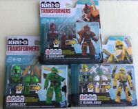KRE-O Transformers Bumblebee, Sideswipe, And Grimlock. Custom Kreon Building Kit