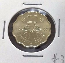 HONG KONG  Commemorative 20 cents coin 1997 Butterfly Kites  UNC/BU  #3