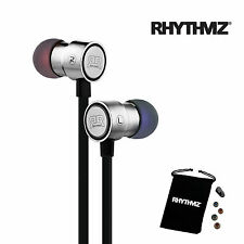 RHYTHMZ ® HD7  Earphones, gaming earphones apple earphones samsung  (Silver)