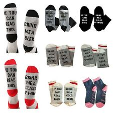 IF YOU CAN READ THIS BRING ME WINE Fashion Women Men Socks Novelty
