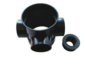 110mm Short Boss Pipe with 32mm Rubber black, Soil Pipe Connector