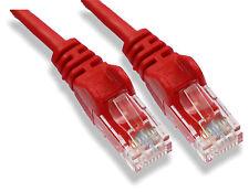 10m Rojo Cable De Red Lan Rj45 parche Plomo Cat 5 Ethernet de 10 metros Router Cat5e