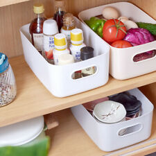 Kitchen Home Plastic Storage Basket Desktop Sundries Snack Storage Box Organizer