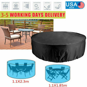 NEW Large Round Water Resistant Outdoor Furniture Cover Patio Rattan Table Cover