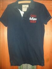 Mens Hollister Blue Cotton Polo Shirt Size Small