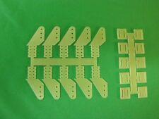 Ruderhorn  Ruderhörner Anlenkhebel doppelt aus 1mm GFK 10 Stück 15mm hoch
